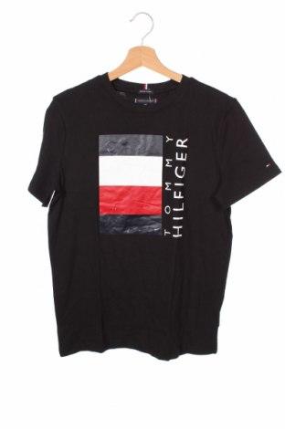 Παιδικό μπλουζάκι Tommy Hilfiger, Μέγεθος 15-18y/ 170-176 εκ., Χρώμα Μαύρο, Βαμβάκι, Τιμή 18,95€