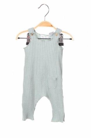 Детски гащеризон Zara, Размер 2-3m/ 56-62 см, Цвят Зелен, 48% памук, 48% полиестер, 4% еластан, Цена 24,00лв.
