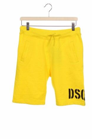 Pantaloni scurți pentru copii Dsquared2, Mărime 13-14y/ 164-168 cm, Culoare Galben, Bumbac, Preț 284,28 Lei
