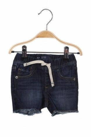 Pantaloni scurți pentru copii Gap Baby, Mărime 3-6m/ 62-68 cm, Culoare Albastru, Bumbac, Preț 69,08 Lei