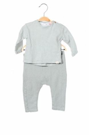 Детски комплект Zara, Размер 3-6m/ 62-68 см, Цвят Зелен, 100% памук, Цена 24,00лв.