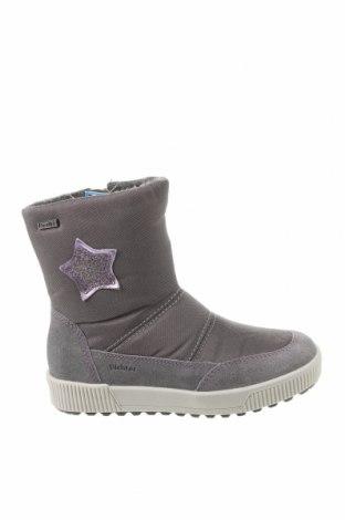 Детски обувки Richter, Размер 27, Цвят Сив, Текстил, естествен велур, Цена 69,30лв.