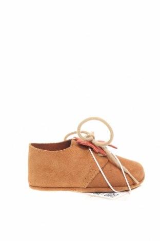 Dětské boty  Zara, Velikost 15, Barva Hnědá, Přírodní velur , Cena  350,00Kč