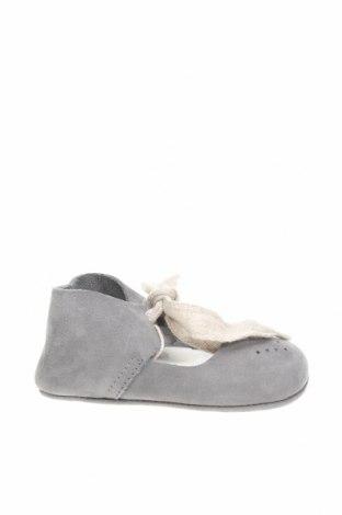 Dětské boty  Zara, Velikost 17, Barva Šedá, Přírodní velur , Cena  350,00Kč