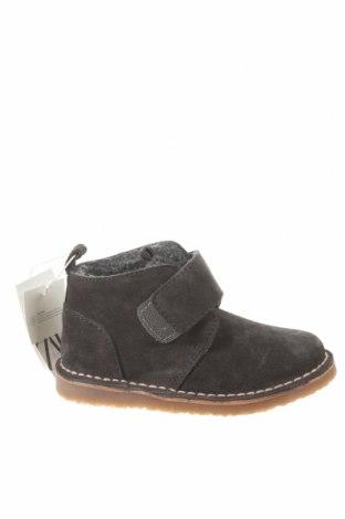 Παιδικά παπούτσια Zara, Μέγεθος 24, Χρώμα Γκρί, Φυσικό σουέτ, Τιμή 19,28€