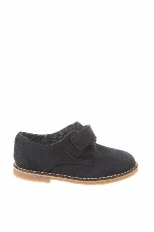 Детски обувки Zara, Размер 22, Цвят Син, Естествен велур, Цена 15,87лв.