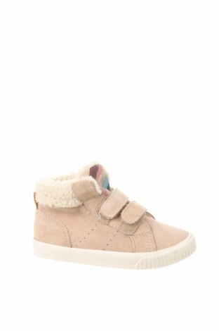 Детски обувки Zara, Размер 24, Цвят Бежов, Естествен велур, Цена 35,55лв.