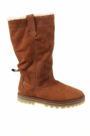 Детски обувки Zara, Размер 37, Цвят Кафяв, Естествена кожа, Цена 81,75лв.