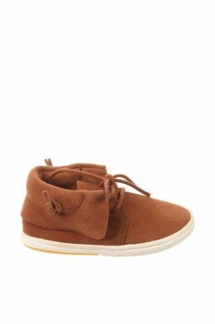 Dětské boty  Zara, Velikost 21, Barva Hnědá, Přírodní velur , Cena  350,00Kč
