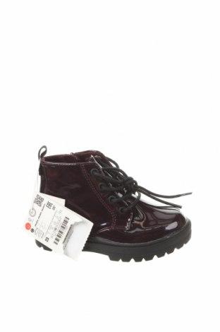 Детски обувки Zara, Размер 23, Цвят Лилав, Еко кожа, Цена 51,75лв.