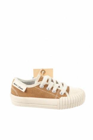Детски обувки Zara, Размер 20, Цвят Кафяв, Естествен велур, Цена 15,64лв.
