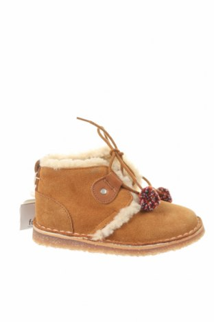 Детски обувки Zara, Размер 23, Цвят Кафяв, Естествен велур, Цена 59,25лв.