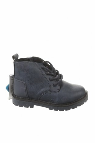 Детски обувки Zara, Размер 21, Цвят Син, Еко кожа, Цена 13,34лв.
