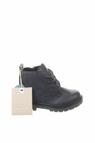 Dětské boty  Zara, Velikost 21, Barva Modrá, Eko kůže, Cena  247,00Kč