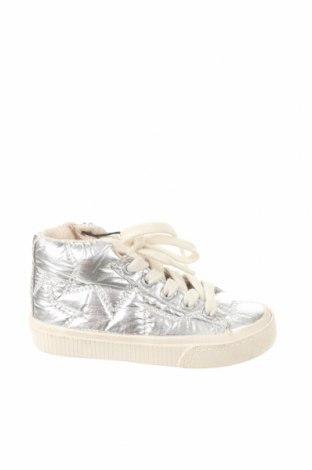 Детски обувки Zara, Размер 20, Цвят Сребрист, Текстил, Цена 13,57лв.