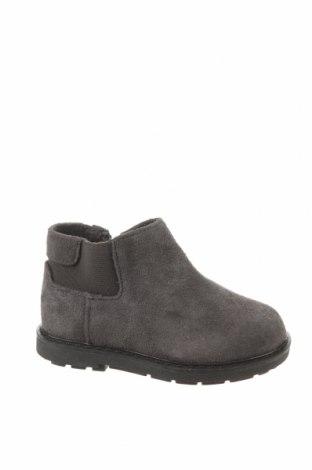 Детски обувки Zara, Размер 22, Цвят Сив, Естествен велур, Цена 18,17лв.