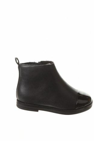 Детски обувки Zara, Размер 21, Цвят Черен, Еко кожа, Цена 14,95лв.
