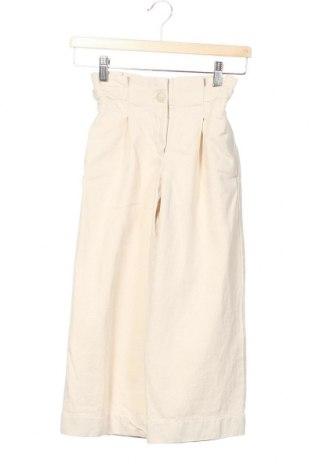 Dětské kalhoty  Zara Kids, Velikost 6-7y/ 122-128 cm, Barva Krémová, Bavlna, Cena  392,00Kč