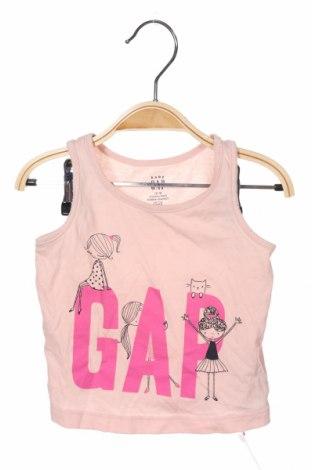 Μπλουζάκι αμάνικο παιδικό Gap Baby, Μέγεθος 12-18m/ 80-86 εκ., Χρώμα Ρόζ , Βαμβάκι, Τιμή 8,81€
