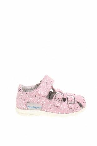 Детски сандали Richter, Размер 22, Цвят Розов, Естествен велур, Цена 41,40лв.