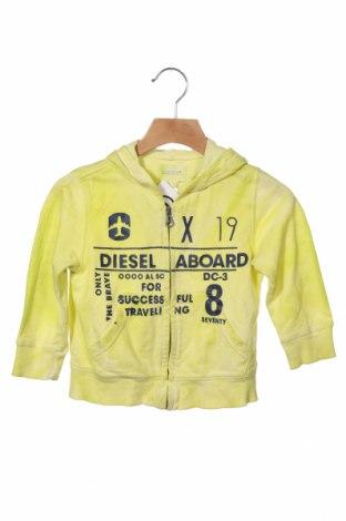 Hanorac pentru copii Diesel, Mărime 12-18m/ 80-86 cm, Culoare Verde, Bumbac, Preț 108,06 Lei