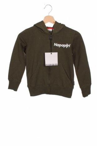 Детски суичър Napapijri, Размер 7-8y/ 128-134 см, Цвят Зелен, 80% памук, 20% полиестер, Цена 66,75лв.