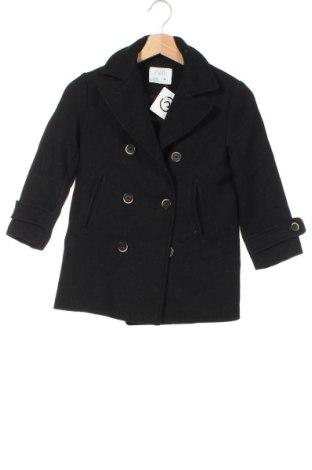 Детско палто Zara, Размер 7-8y/ 128-134 см, Цвят Черен, Цена 59,25лв.