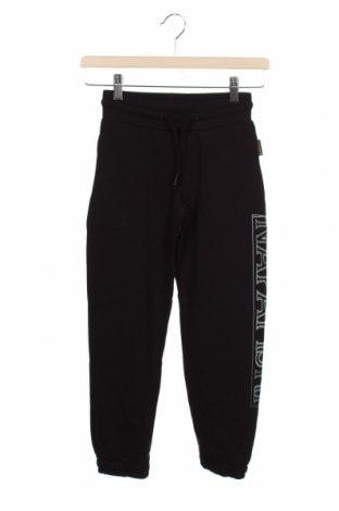 Pantaloni de trening, pentru copii Napapijri, Mărime 7-8y/ 128-134 cm, Culoare Negru, 80% bumbac, 20% poliester, Preț 111,74 Lei