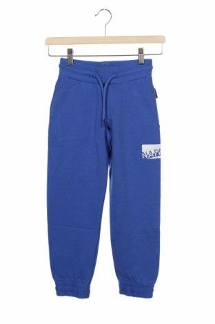 Pantaloni de trening, pentru copii Napapijri, Mărime 7-8y/ 128-134 cm, Culoare Albastru, 80% bumbac, 20% poliester, Preț 168,92 Lei