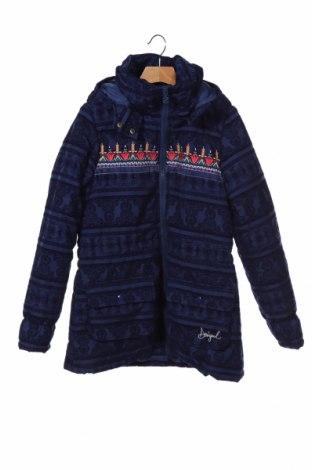Dětská sportovní bunda  Desigual, Velikost 12-13y/ 158-164 cm, Barva Modrá, Polyester, Cena  2163,00Kč