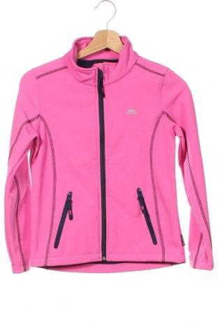 Детско спортно яке Trespass, Размер 8-9y/ 134-140 см, Цвят Розов, 94% полиестер, 6% еластан, Цена 51,75лв.
