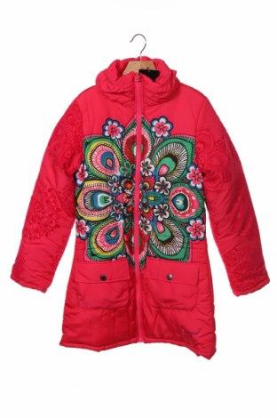 Dětská bunda  Desigual, Velikost 12-13y/ 158-164 cm, Barva Růžová, Polyester, Cena  2489,00Kč