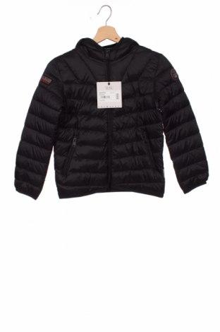 Детско яке Napapijri, Размер 7-8y/ 128-134 см, Цвят Черен, Полиамид, Цена 186,75лв.