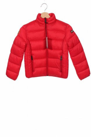 Детско яке Napapijri, Размер 6-7y/ 122-128 см, Цвят Червен, Полиамид, Цена 201,75лв.