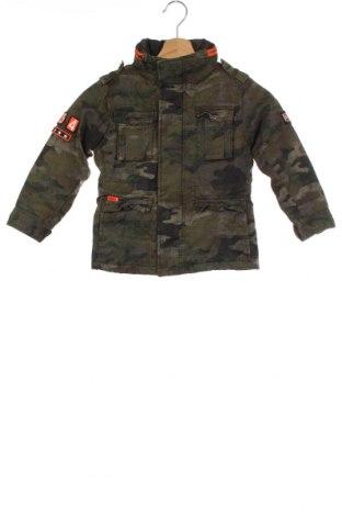 Dětská bunda  Superdry, Velikost 5-6y/ 116-122 cm, Barva Zelená, Bavlna, Cena  2054,00Kč