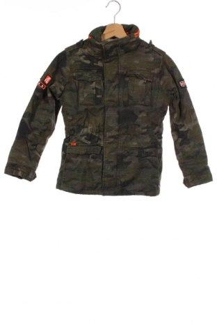 Dětská bunda  Superdry, Velikost 9-10y/ 140-146 cm, Barva Zelená, Bavlna, Cena  959,00Kč