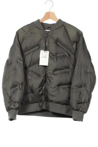Детско яке Zara, Размер 11-12y/ 152-158 см, Цвят Зелен, Полиестер, Цена 59,25лв.