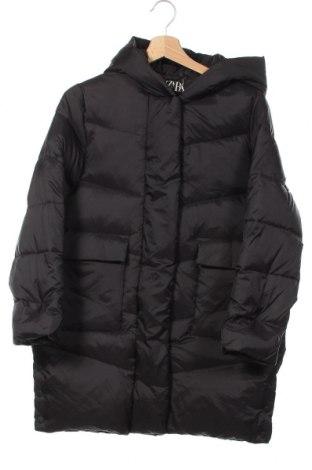Детско яке Zara, Размер 13-14y/ 164-168 см, Цвят Черен, Полиамид, пух и пера, Цена 59,25лв.