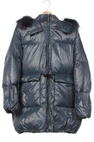 Детско яке Zara, Размер 13-14y/ 164-168 см, Цвят Сив, Полиамид, пух и пера, Цена 59,25лв.