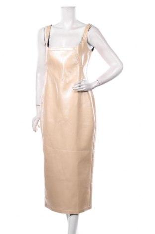 Rochie de piele N 21, Mărime L, Culoare Bej, Piele ecologică, Preț 1.275,00 Lei