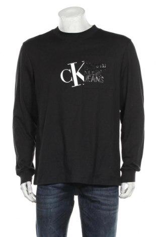 Ανδρική μπλούζα Calvin Klein Jeans, Μέγεθος L, Χρώμα Μαύρο, Βαμβάκι, Τιμή 53,74€