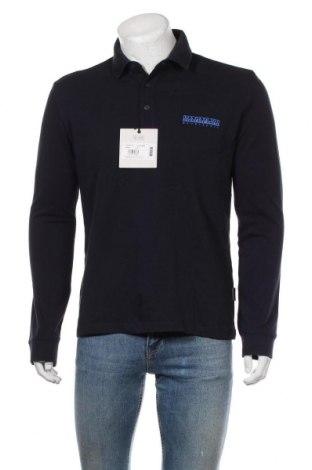 Pánské tričko  Napapijri, Velikost L, Barva Modrá, Bavlna, Cena  972,00Kč