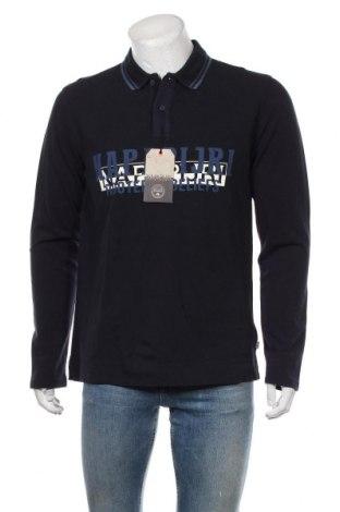 Мъжка блуза Napapijri, Размер L, Цвят Син, Памук, Цена 111,75лв.