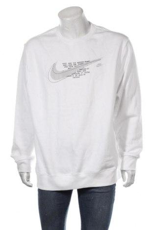 Мъжка блуза Nike, Размер XXL, Цвят Бял, 80% памук, 20% полиестер, Цена 70,50лв.