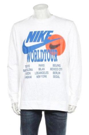 Мъжка блуза Nike, Размер L, Цвят Бял, Памук, Цена 63,00лв.