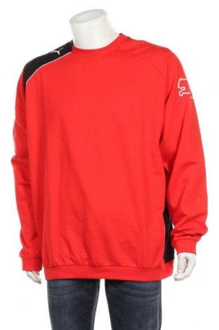 Мъжка блуза PUMA, Размер XL, Цвят Червен, 90% памук, 10% полиестер, Цена 66,75лв.