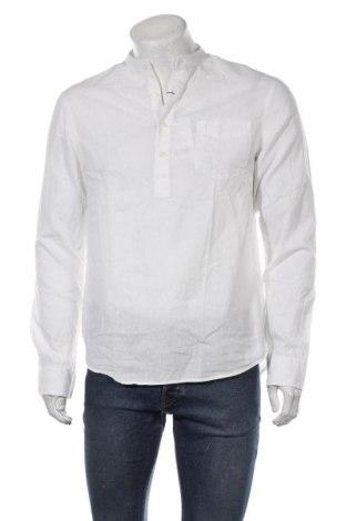Ανδρική μπλούζα Pier One, Μέγεθος M, Χρώμα Λευκό, 70% βαμβάκι, 30% λινό, Τιμή 17,78€