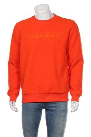 Мъжка поларена блуза Napapijri, Размер L, Цвят Оранжев, Полиестер, Цена 111,75лв.