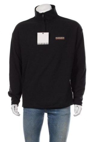 Мъжка поларена блуза Napapijri, Размер L, Цвят Черен, Полиестер, Цена 111,75лв.