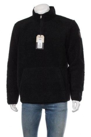 Ανδρική μπλούζα fleece Napapijri, Μέγεθος L, Χρώμα Μαύρο, Πολυεστέρας, Τιμή 76,80€